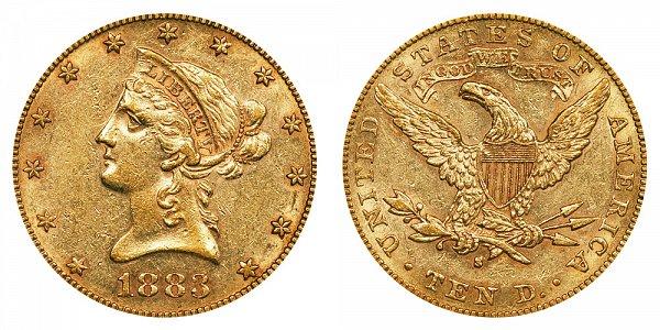 1883 S Liberty Head $10 Gold Eagle - Ten Dollars
