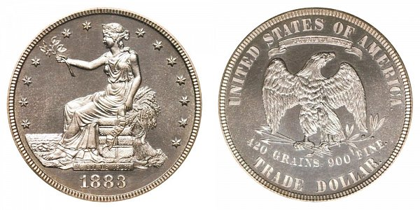 1883 Trade Silver Dollar Proof