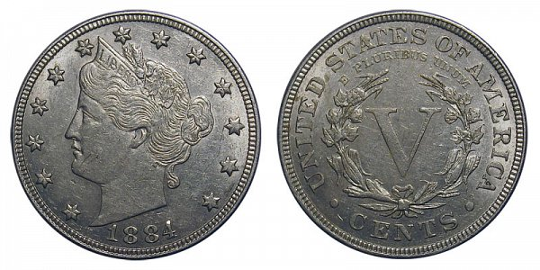 1884 Liberty Head V Nickel