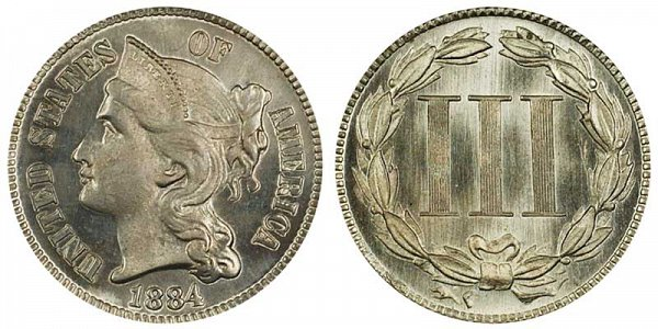 1884 Nickel Three Cent Piece