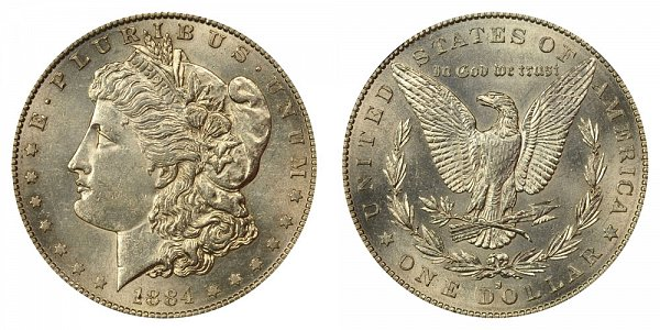1884 S Morgan Silver Dollar