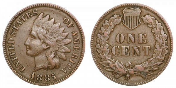 1885 Indian Head Cent Penny