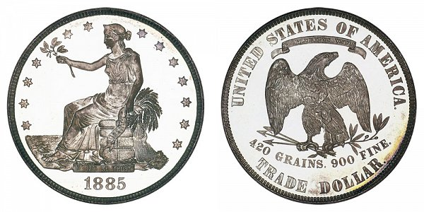 1885 Trade Silver Dollar Proof