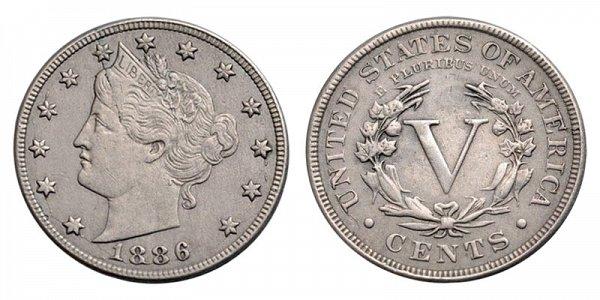 1886 Liberty Head V Nickel