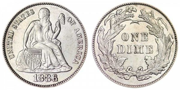 1886 Seated Liberty Dime