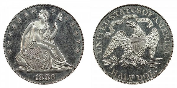 1886 Seated Liberty Half Dollar