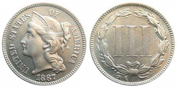 1887 Nickel Three Cent Piece