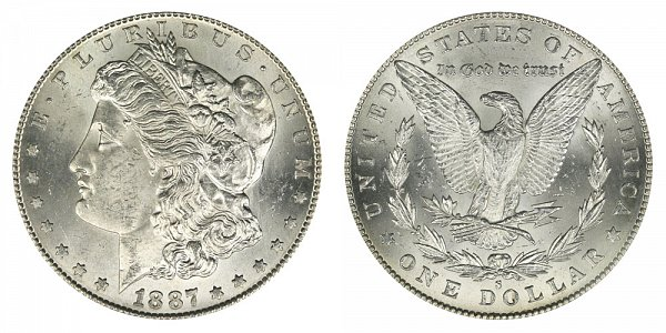 1887 S Morgan Silver Dollar