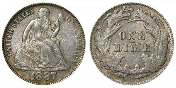 1887 Seated Liberty Dime