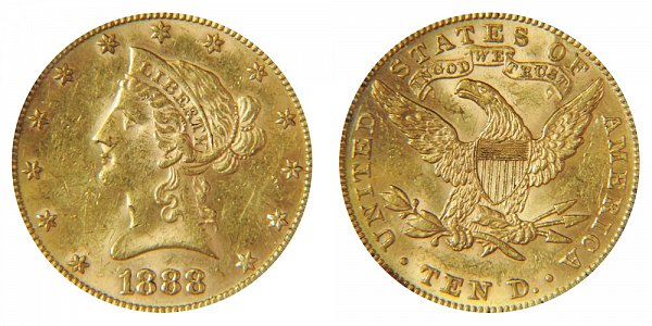 1888 Liberty Head $10 Gold Eagle - Ten Dollars