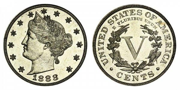 1888 Liberty Head V Nickel