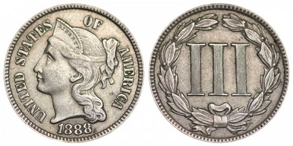 1888 Nickel Three Cent Piece