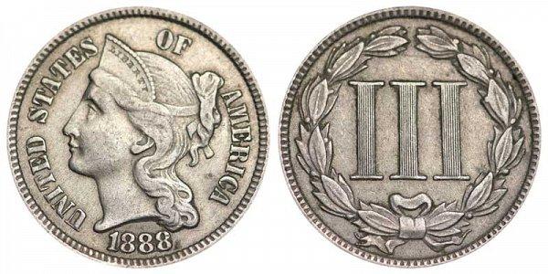 1888 Nickel Three Cent Piece