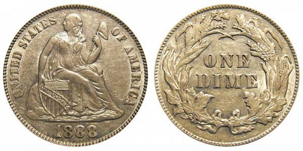 1888 Seated Liberty Dime