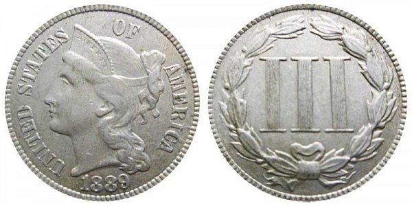 1889 Nickel Three Cent Piece