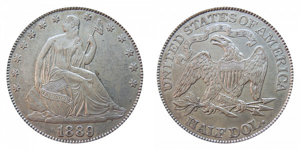 1889 Seated Liberty Half Dollar