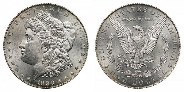 1890 CC Morgan Silver Dollar