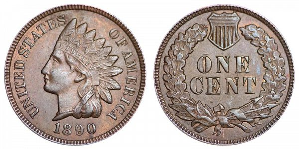 1890 Indian Head Cent Penny