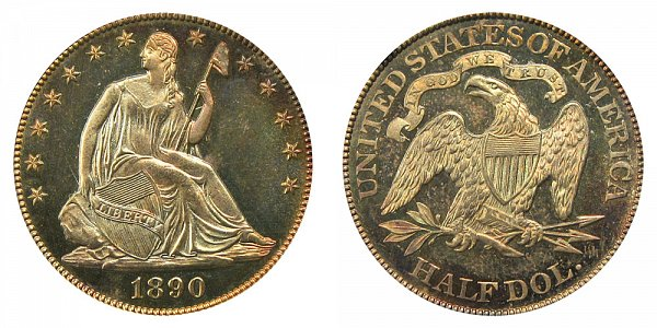 1890 Seated Liberty Half Dollar