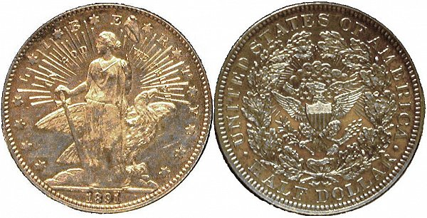 Barber's 1891 Columbia Half Dollar Pattern Coin