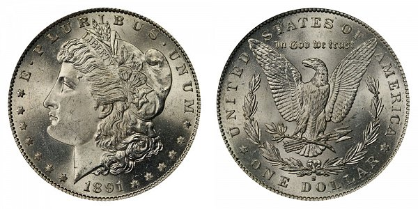 1891 S Morgan Silver Dollar