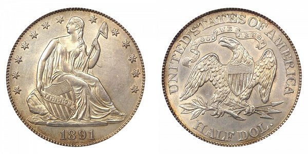 1891 Seated Liberty Half Dollar