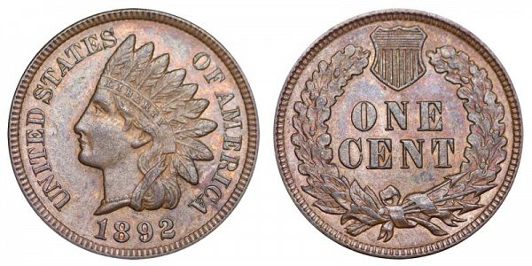 1892 Indian Head Cent Penny