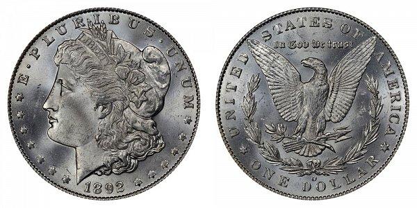 1892 O Morgan Silver Dollar