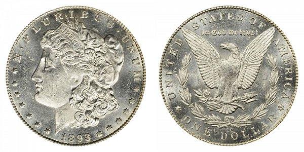 1893 CC Morgan Silver Dollar