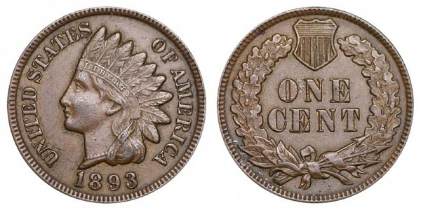 1893 Indian Head Cent Penny
