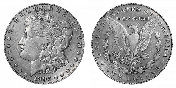 1893 S Morgan Silver Dollar