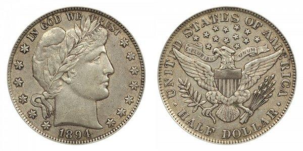 1894 Barber Silver Half Dollar