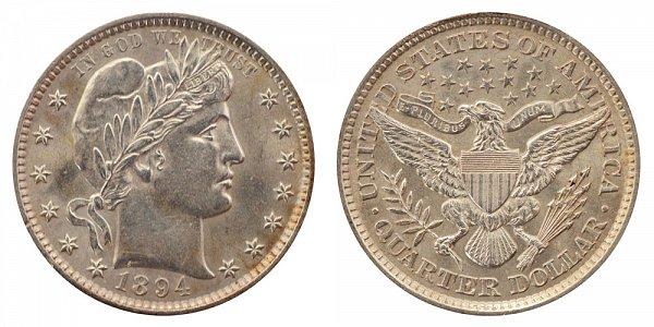 1894 Barber Quarter