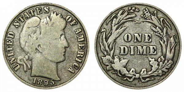 1895 Silver Barber Dime