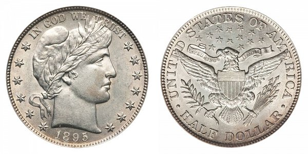 1895 Barber Silver Half Dollar