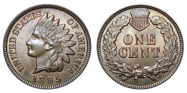 1895 Indian Head Cent Penny