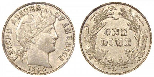 1895 O Silver Barber Dime