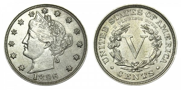 1896 Liberty Head V Nickel