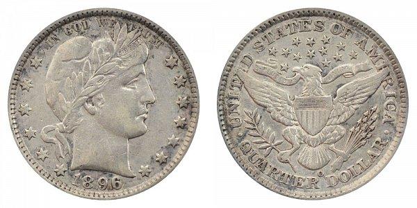 1896 O Barber Quarter