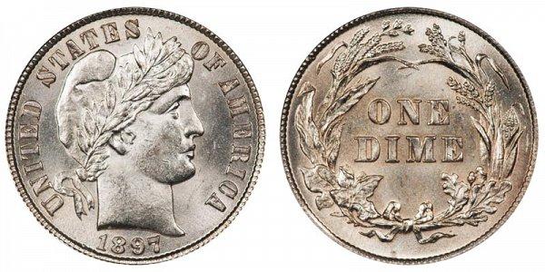 1897 Silver Barber Dime
