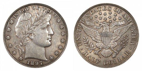 1897 Barber Silver Half Dollar