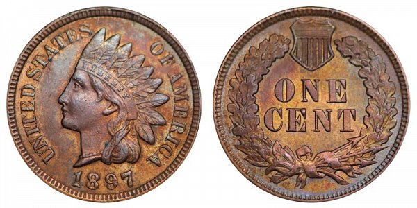 1897 Indian Head Cent Penny
