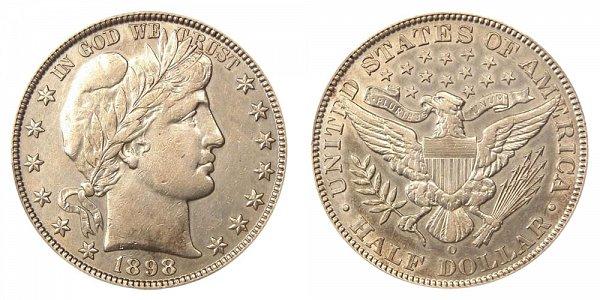 1898 O Barber Silver Half Dollar