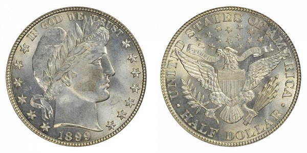1899 Barber Silver Half Dollar