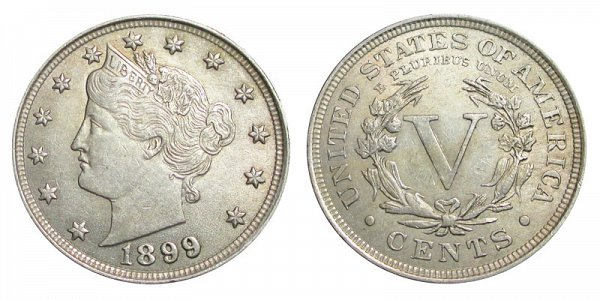 1899 Liberty Head V Nickel