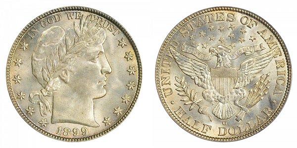 1899 O Barber Silver Half Dollar