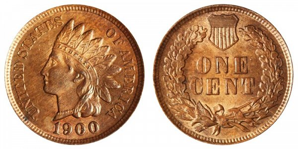 1900 Indian Head Cent Penny