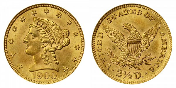 1900 Liberty Head $2.50 Gold Quarter Eagle - 2 1/2 Dollars