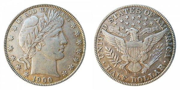 1900 S Barber Silver Half Dollar