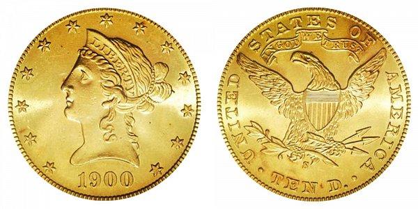 1900 S Liberty Head $10 Gold Eagle - Ten Dollars